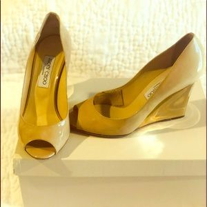 Jimmy Choo Patent Leather Wedge